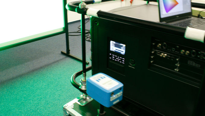 Measurement of a Christie RGB Laser projector with a spectraval 1501 HiRes